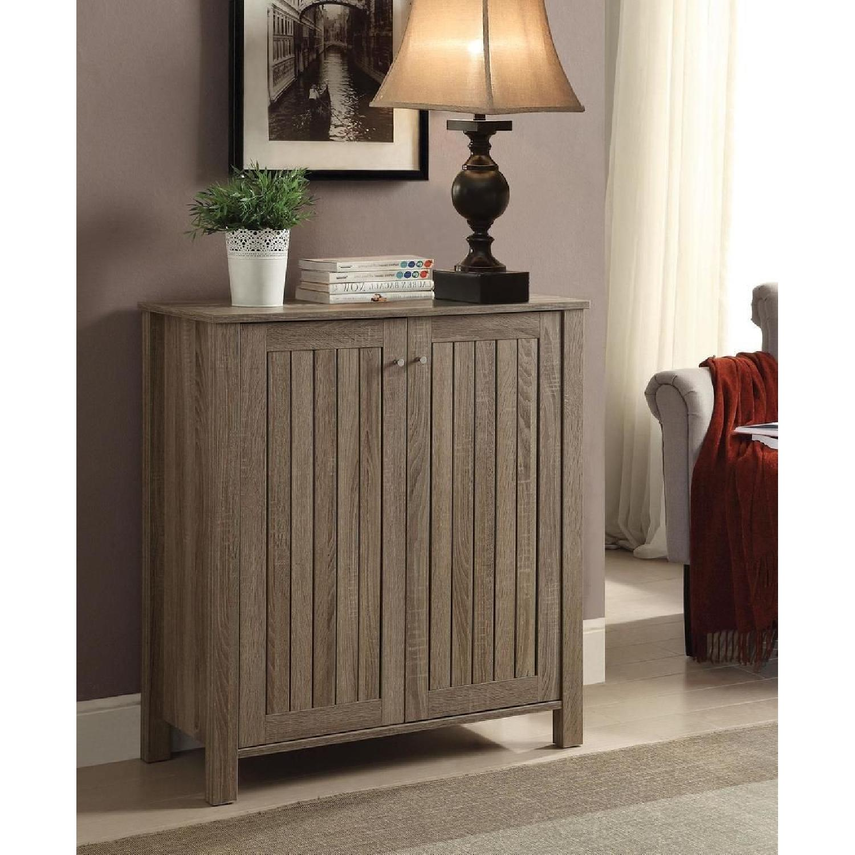6-Drawer Storage Bench in White & Grey Finish - image-26