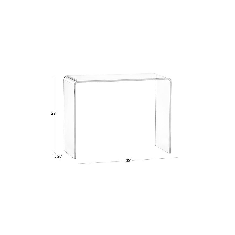 Awesome Cb2 Acrylic Console Table Aptdeco Spiritservingveterans Wood Chair Design Ideas Spiritservingveteransorg