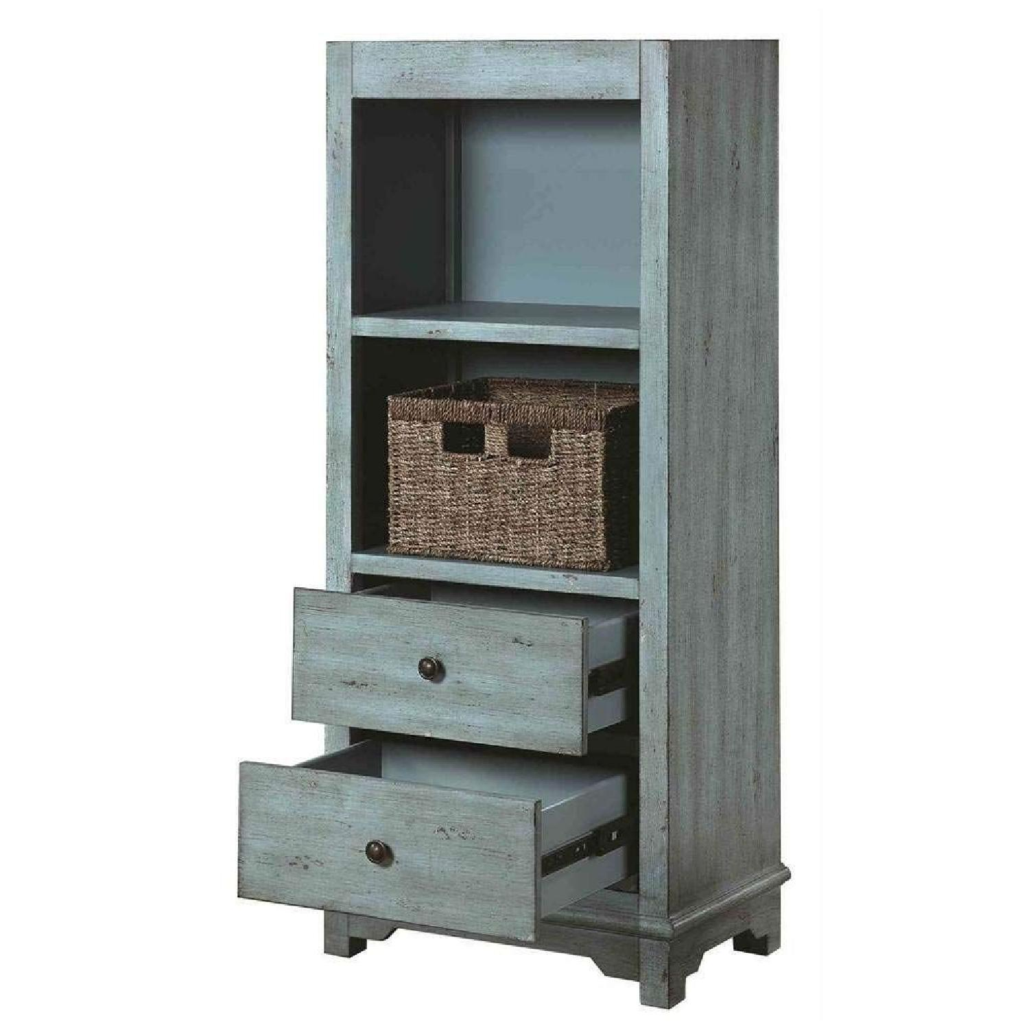 Country-Inspired Accent Cabinet In Light Blue Finish - image-1