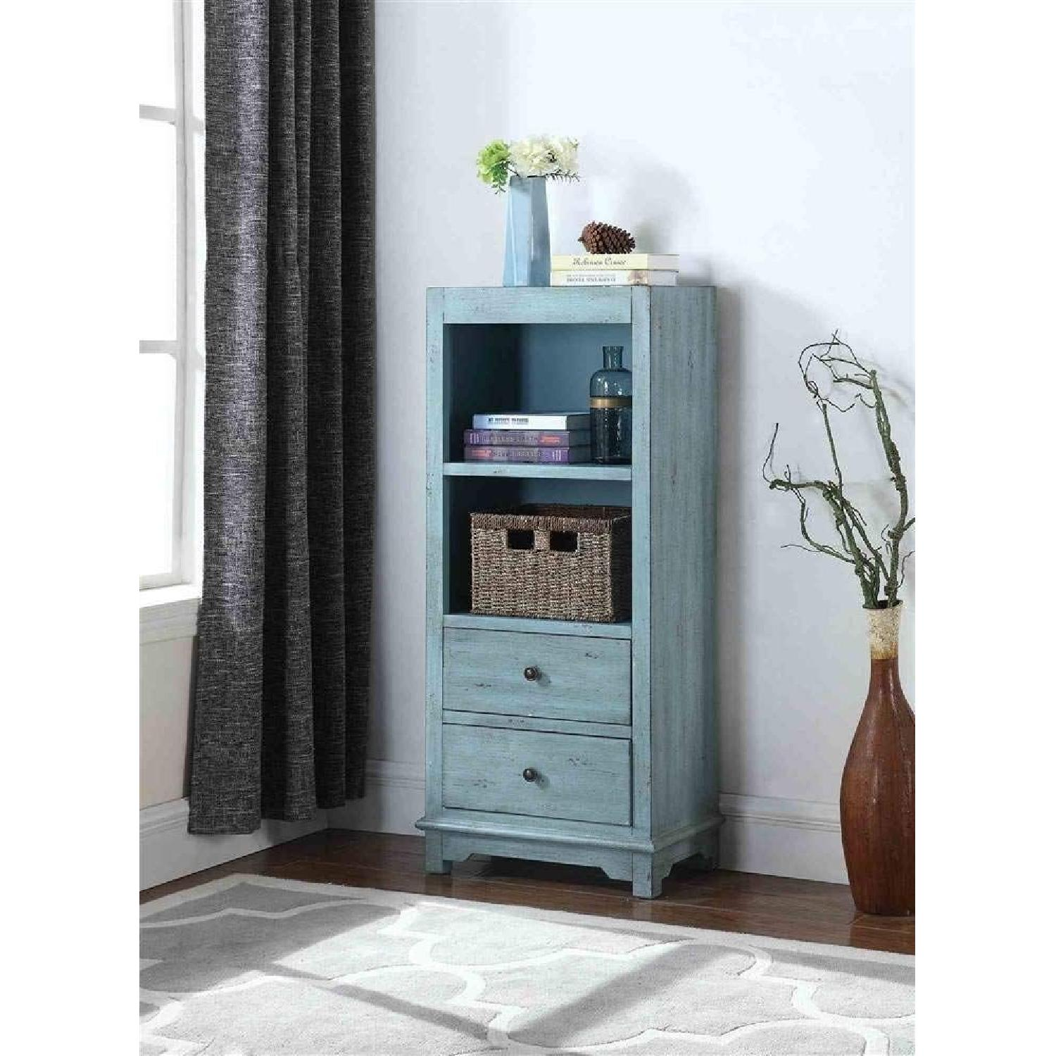 Country-Inspired Accent Cabinet In Light Blue Finish - image-2