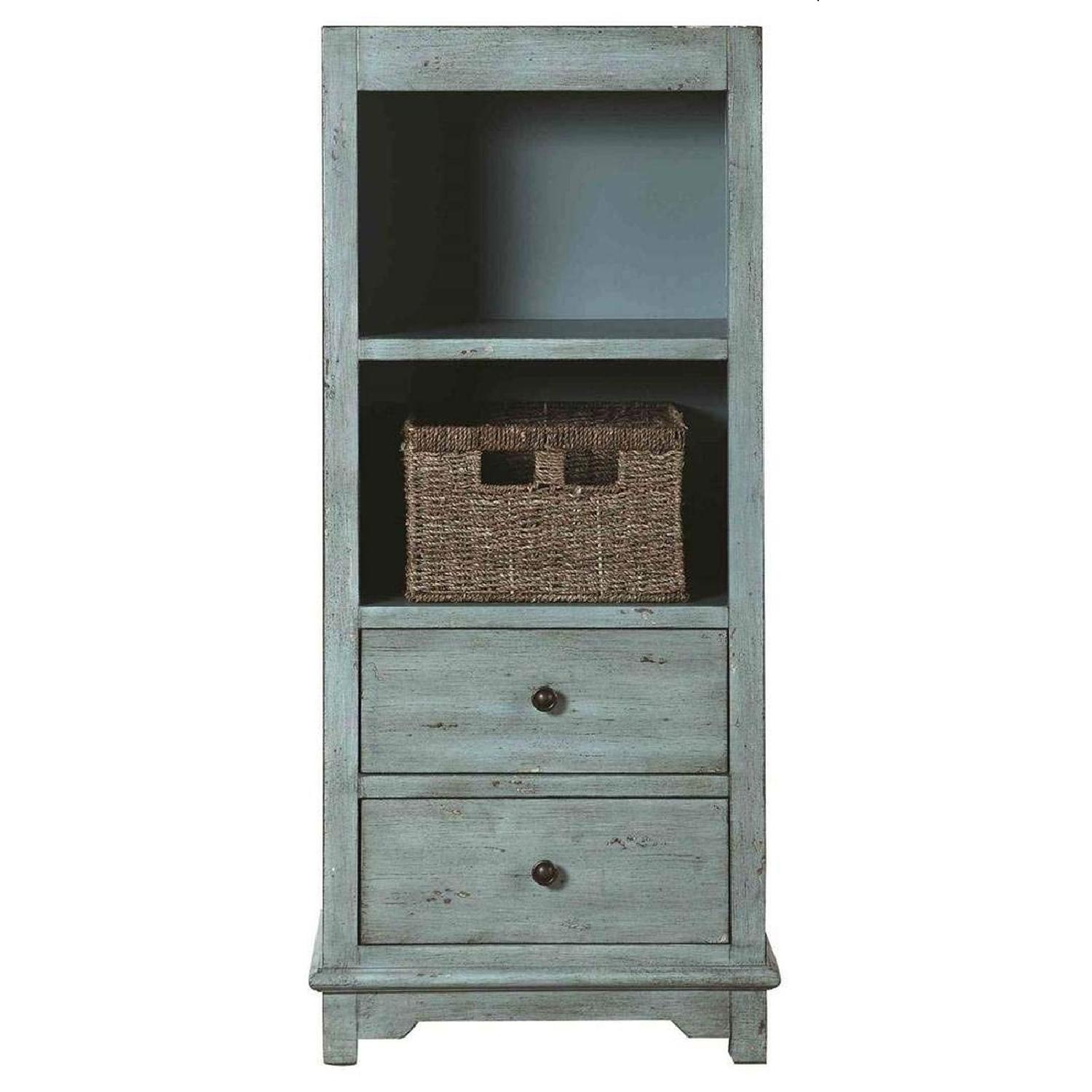 Country-Inspired Accent Cabinet In Light Blue Finish - image-3