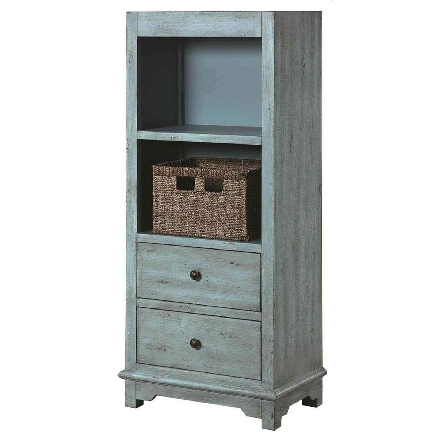 Country-Inspired Accent Cabinet In Light Blue Finish - image-4