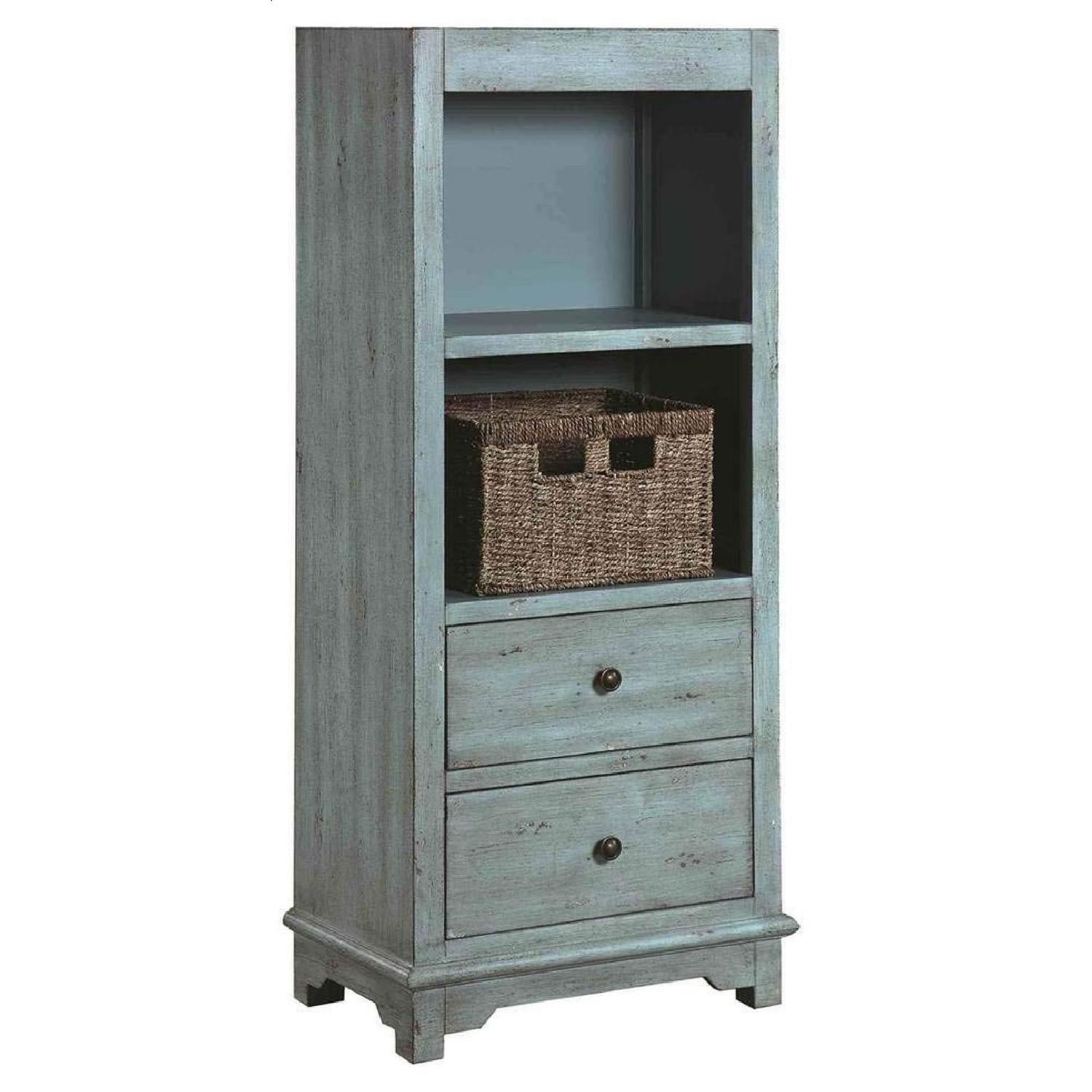 Country-Inspired Accent Cabinet In Light Blue Finish - image-0