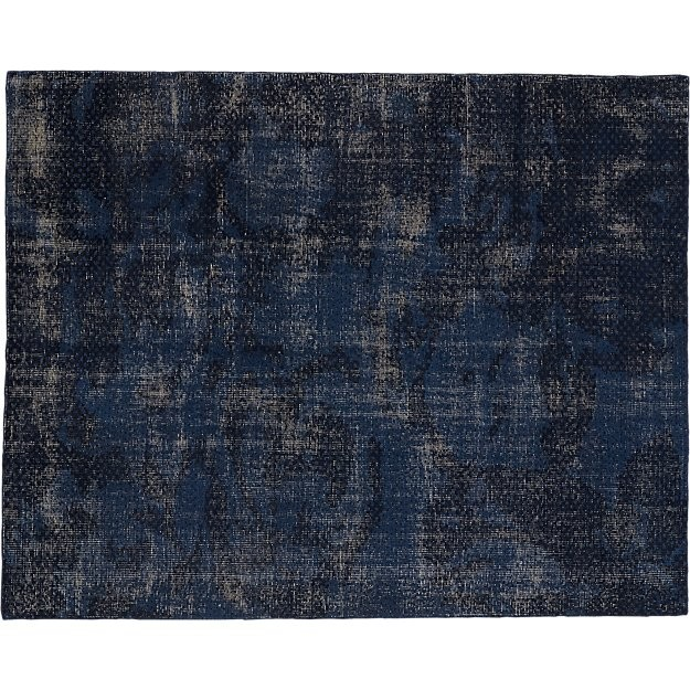 CB2 The Hill-Side Disintegrated Blue Floral Rug