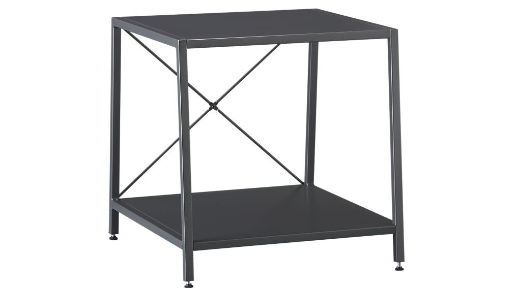 CB2 Harvey Gunmetal Side Tables