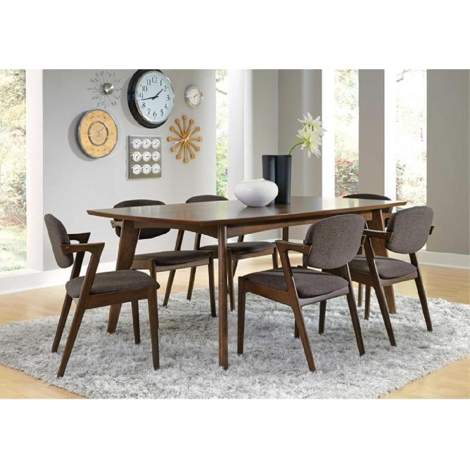 Coaster Dark Walnut Wood Dining Table