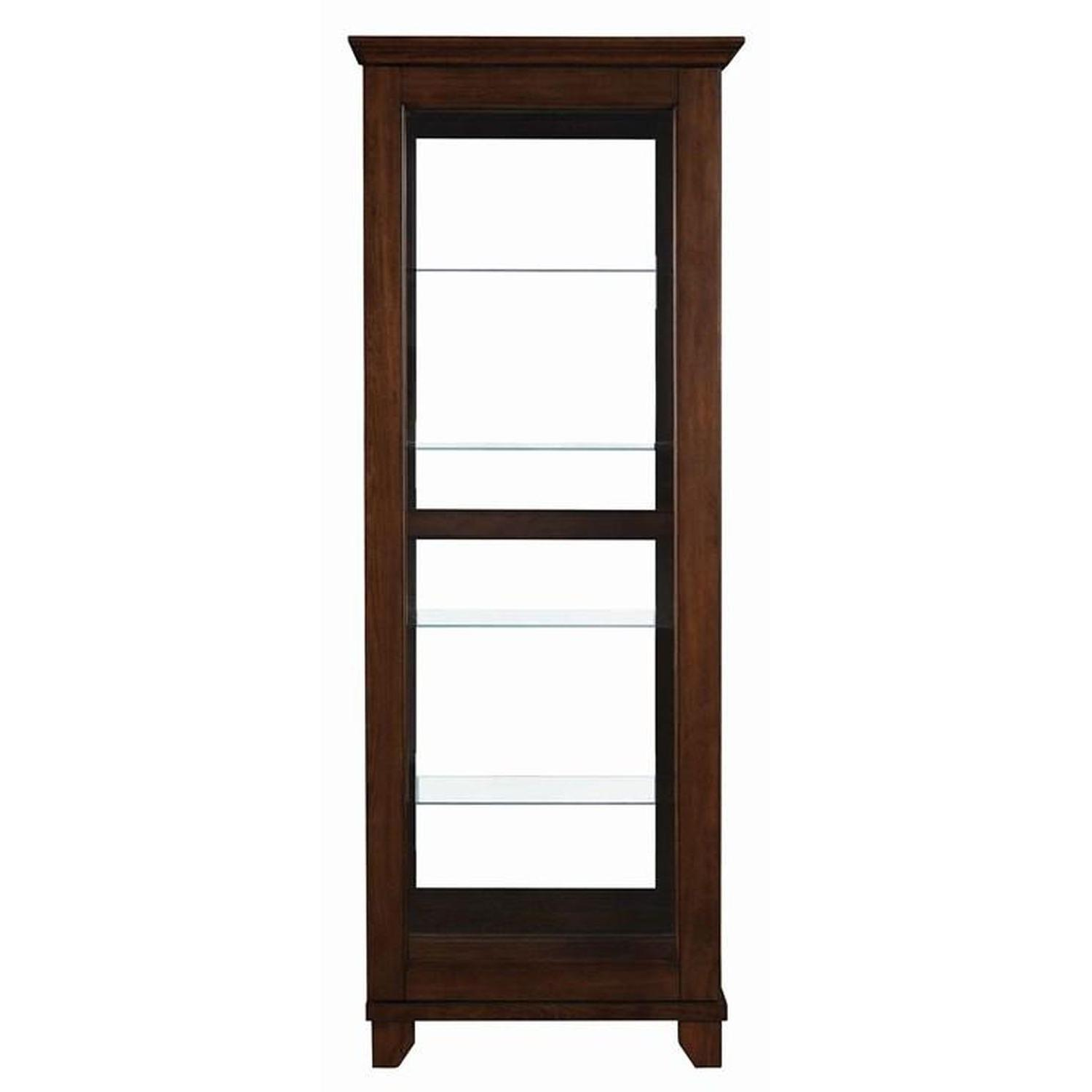 Curio Cabinet in Chestnut Finish w/ Glass Panels - image-4