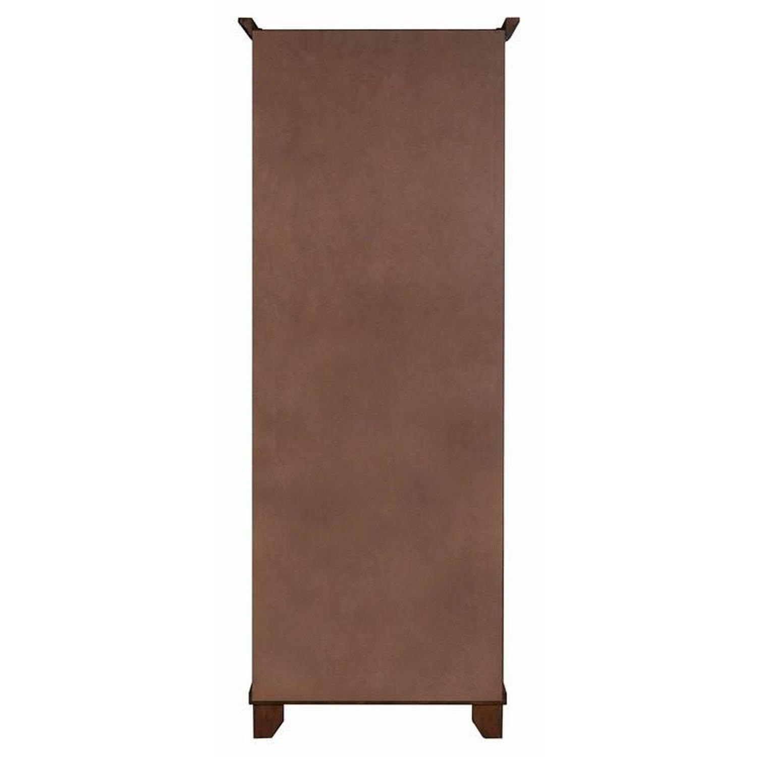 Curio Cabinet in Chestnut Finish w/ Glass Panels - image-5