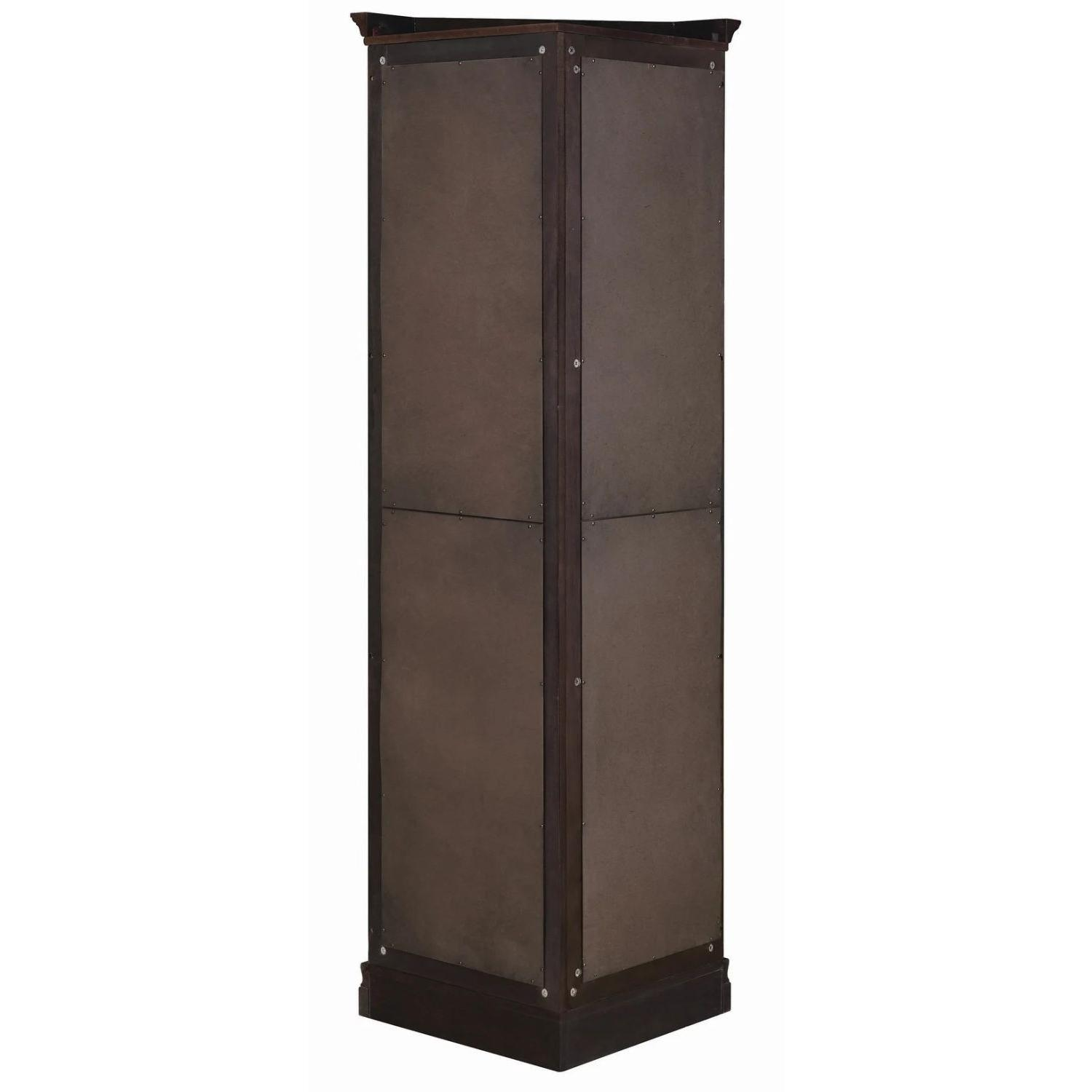 Classic Curio Cabinet in Golden Brown Finish - image-1