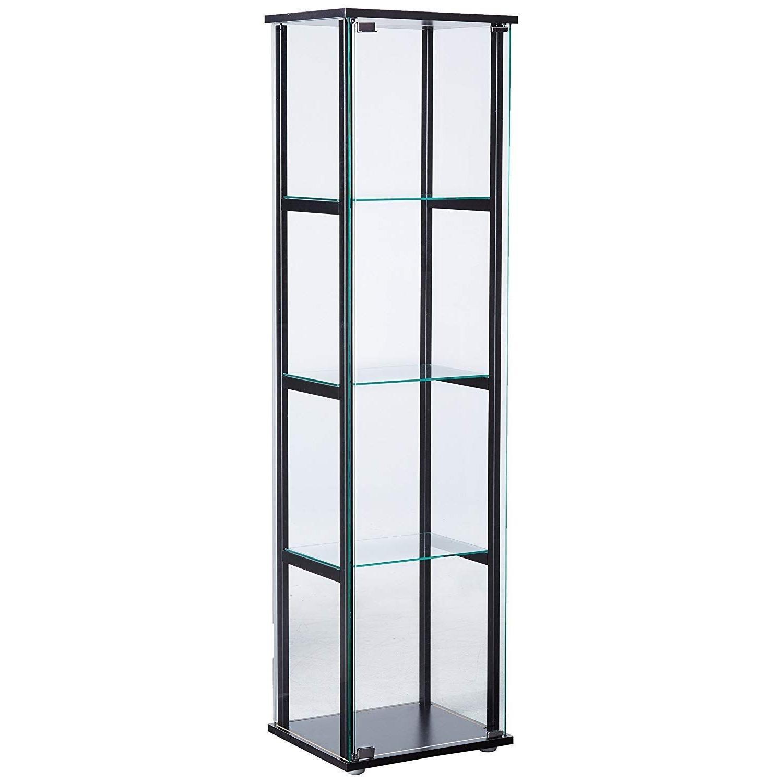 Curio Cabinet w/ Simple Black Ladder Frame - image-0
