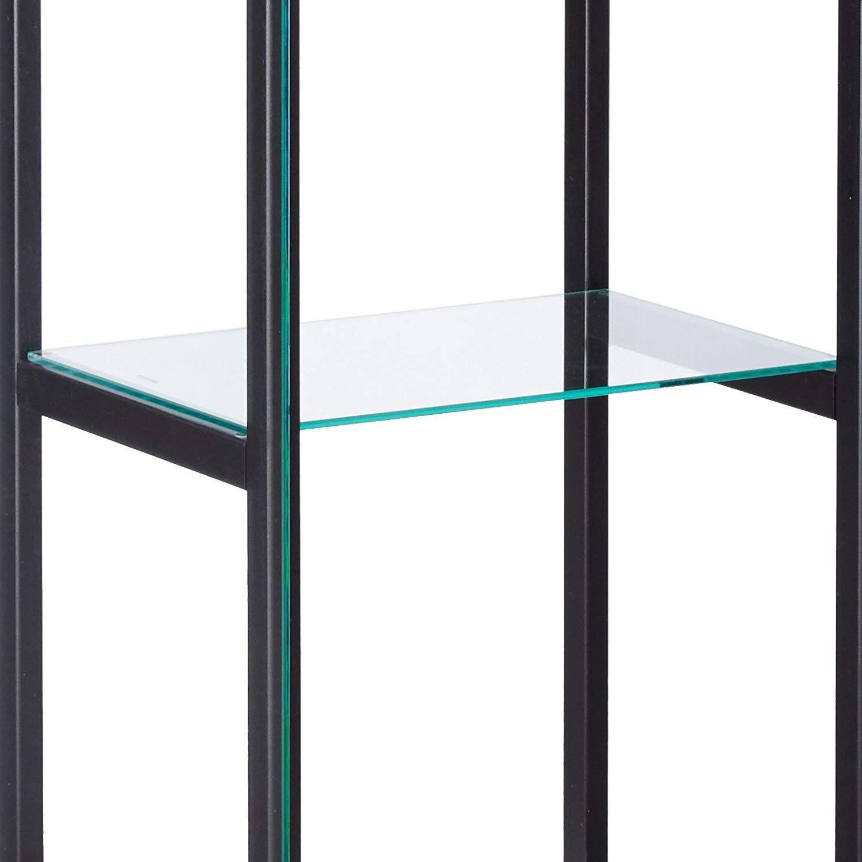 Curio Cabinet w/ Simple Black Ladder Frame - image-3