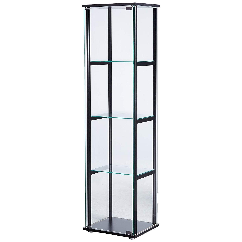 Curio Cabinet w/ Simple Black Ladder Frame - image-4