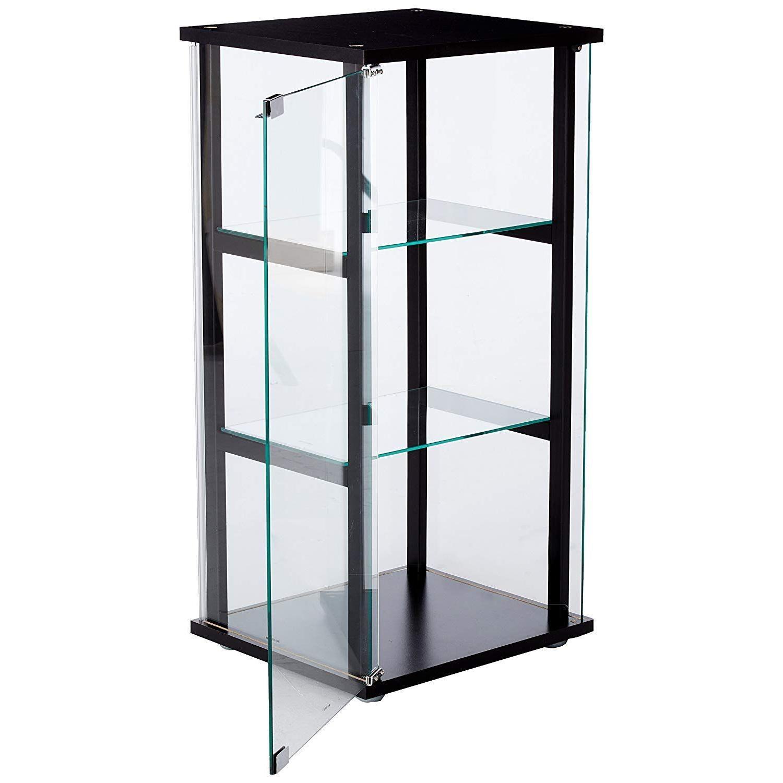 Mini Glass Curio Cabinet w/ Black Frame - image-1