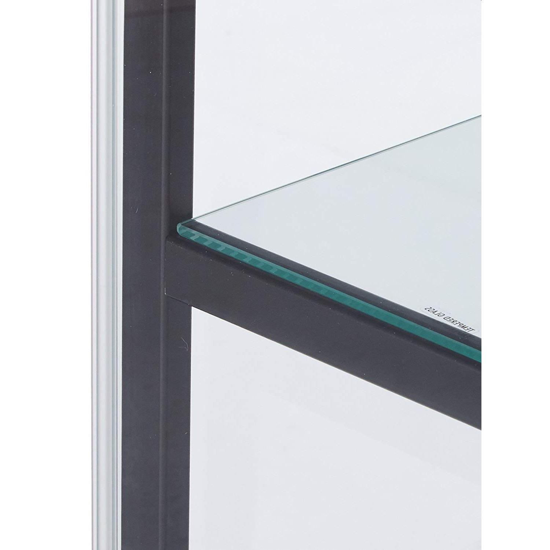 Mini Glass Curio Cabinet w/ Black Frame - image-2
