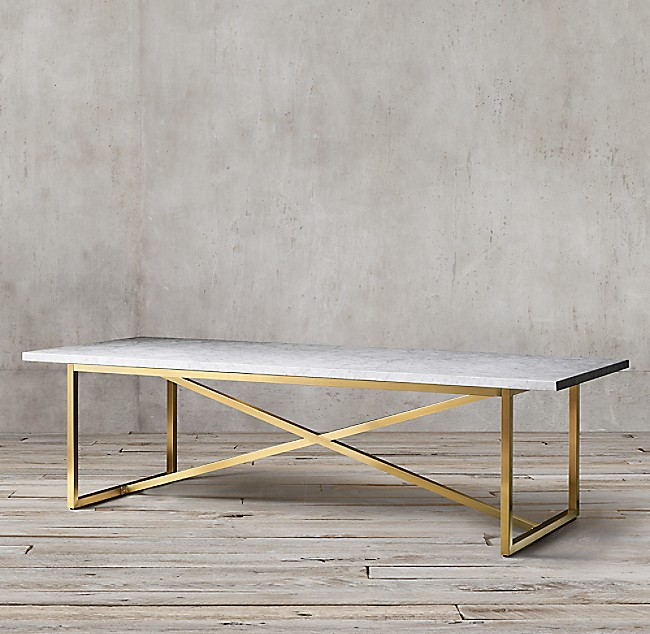 Restoration Hardware Marble Dining Table