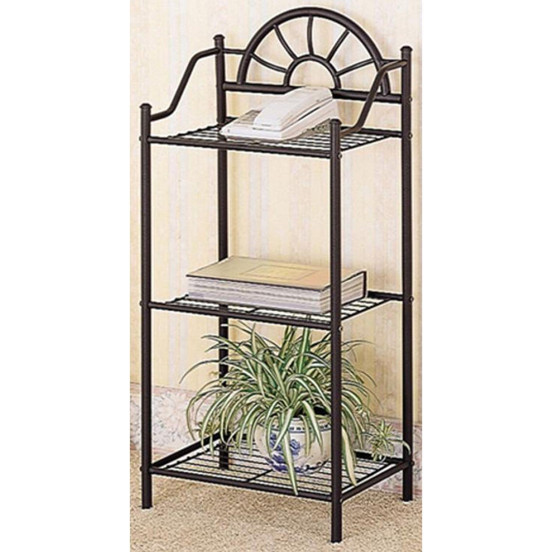 Black Metal Utility Shelf - image-1