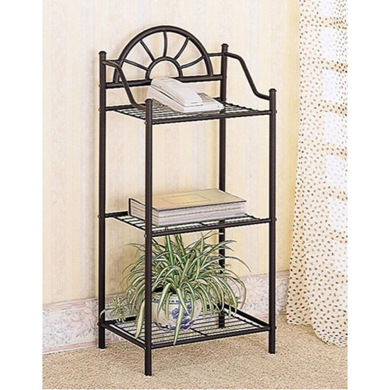 Black Metal Utility Shelf - image-2