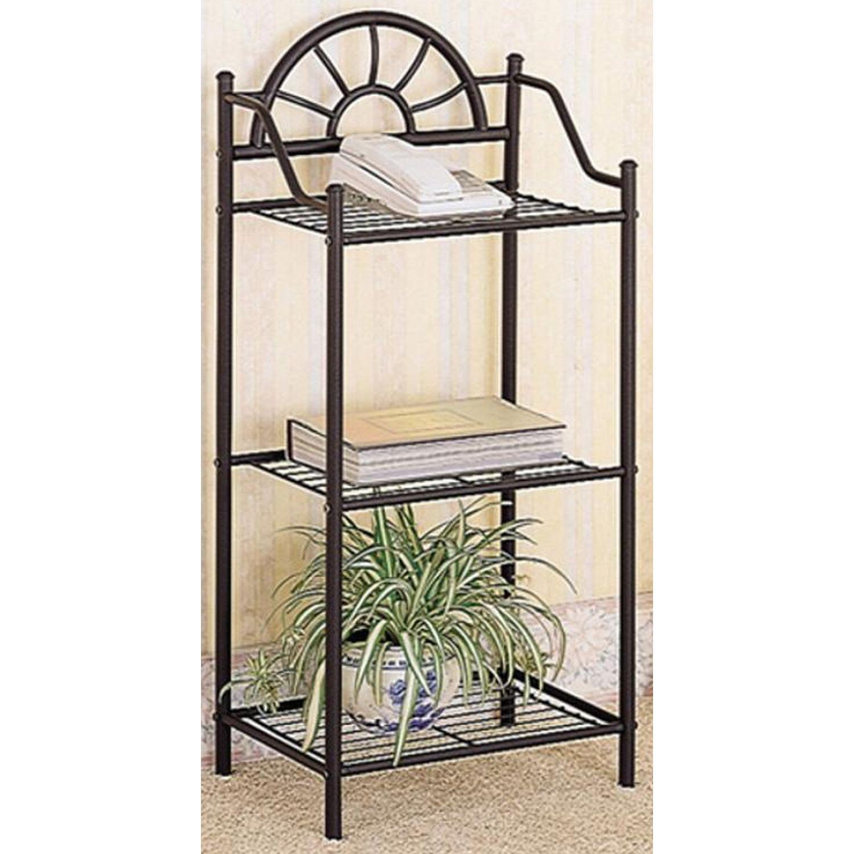 Black Metal Utility Shelf - image-3