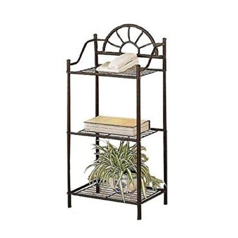 Black Metal Utility Shelf - image-0