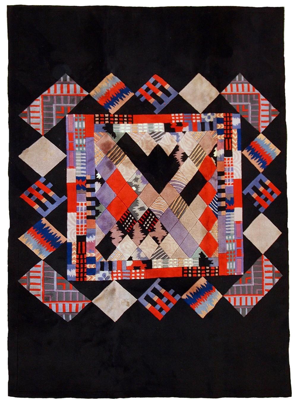 Vintage Handmade Tibetan Khaden Modern Rug