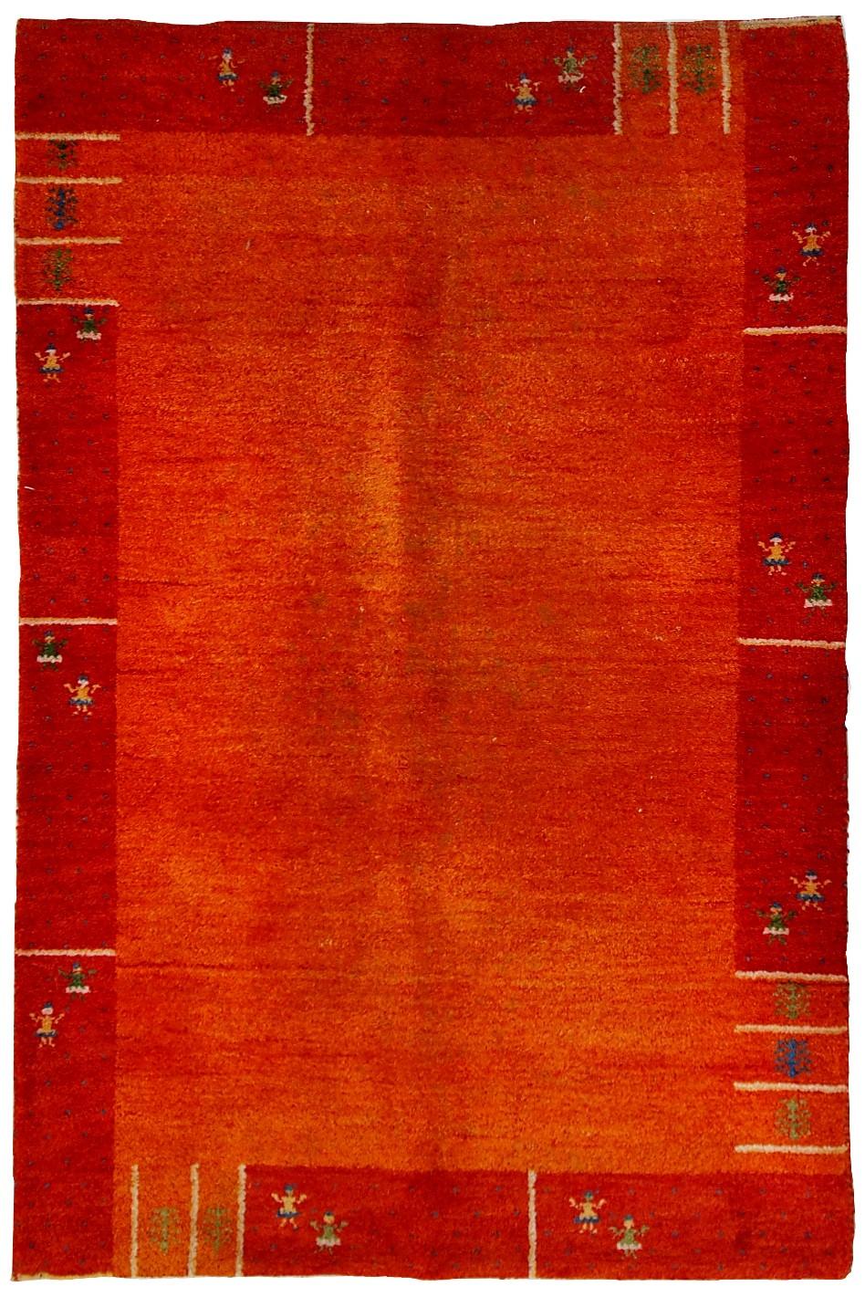 Handmade Vintage Persian Gabbeh Rug