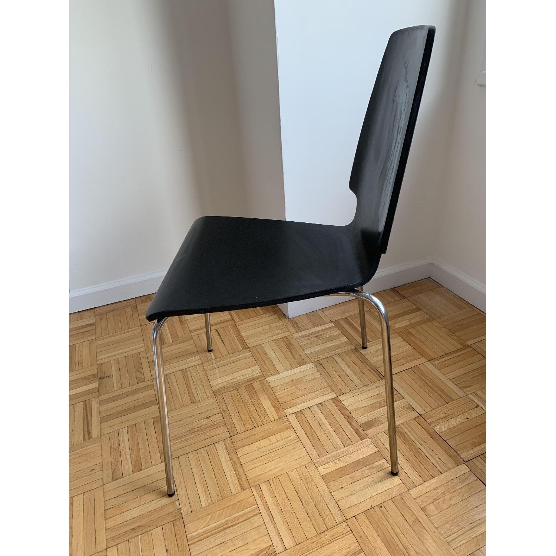 Superb Ikea Vilmar Black Dining Chairs Aptdeco Spiritservingveterans Wood Chair Design Ideas Spiritservingveteransorg