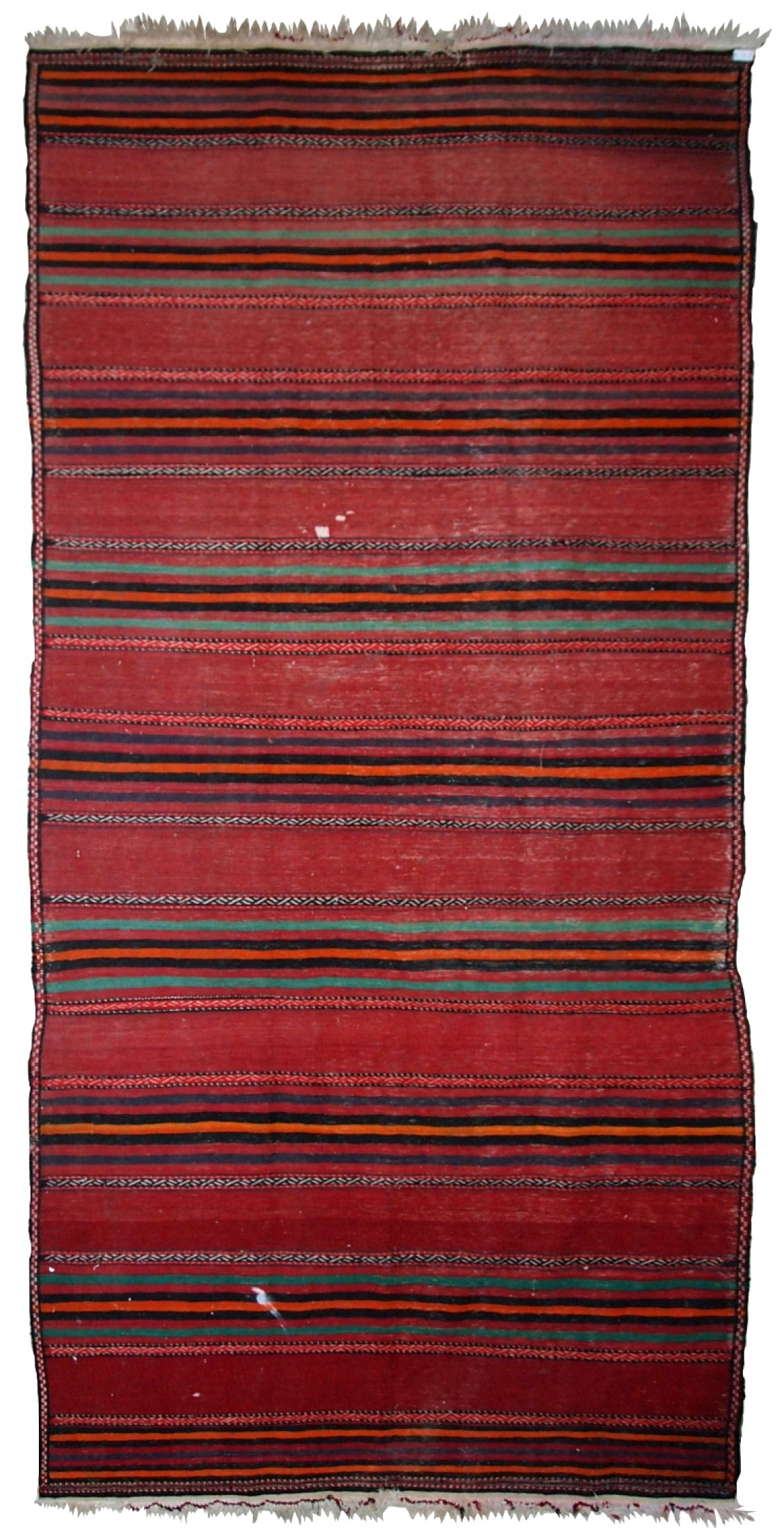 Handmade Vintage Persian Ardabil Striped Kilim Rug