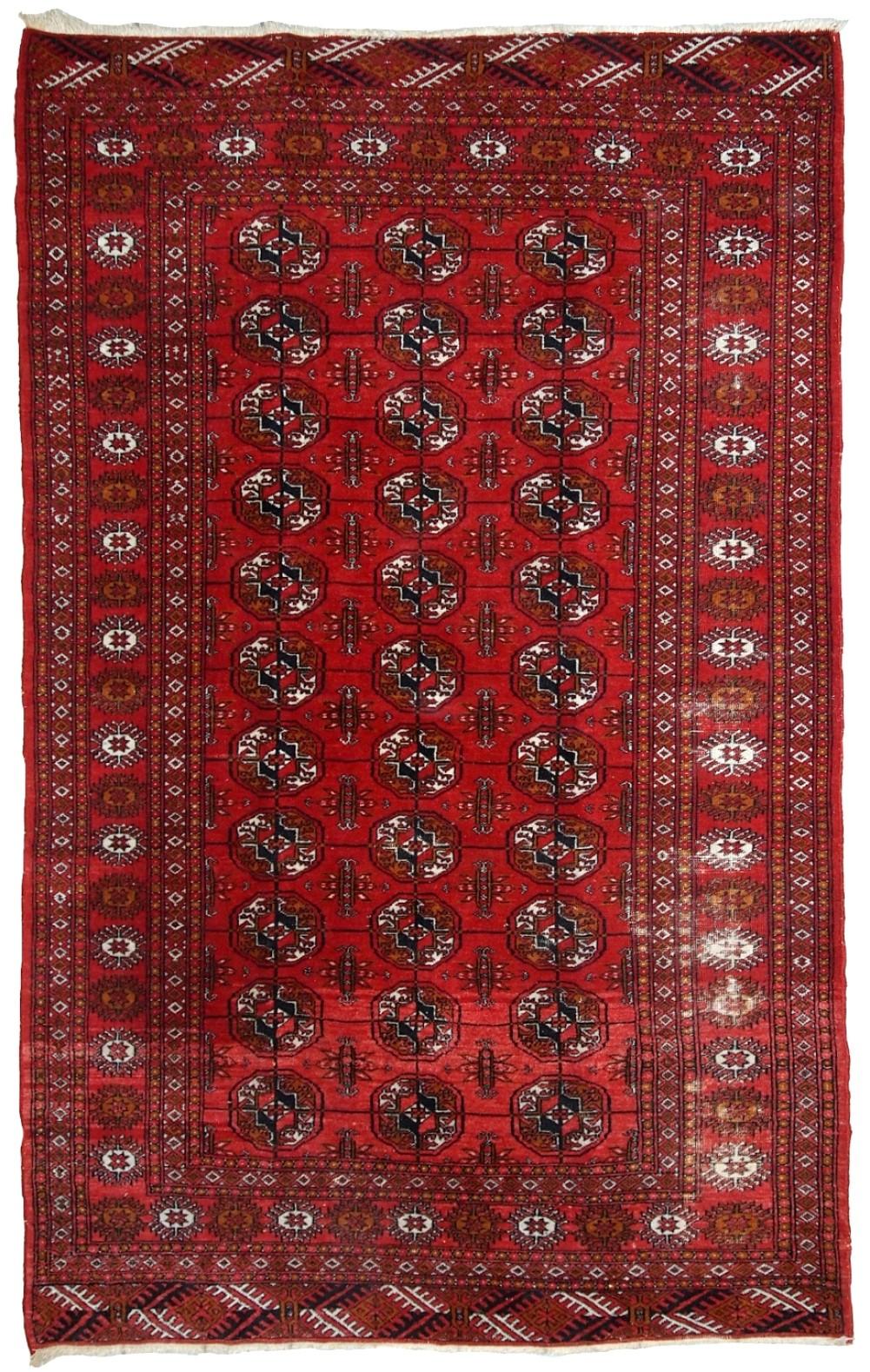 Handmade Vintage Pakistani Tekke Rug