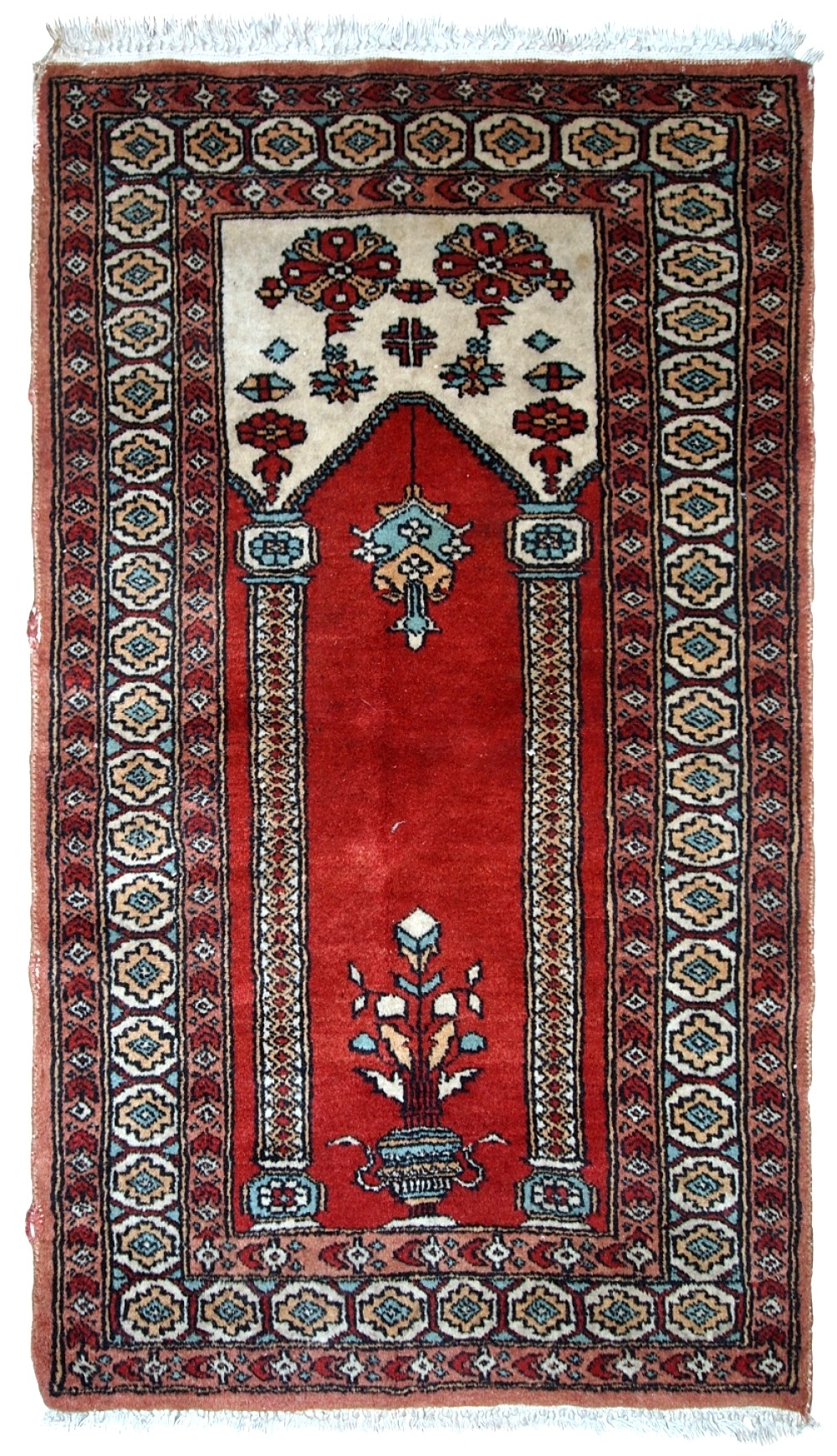 Handmade Vintage Prayer Turkish Konya Rug