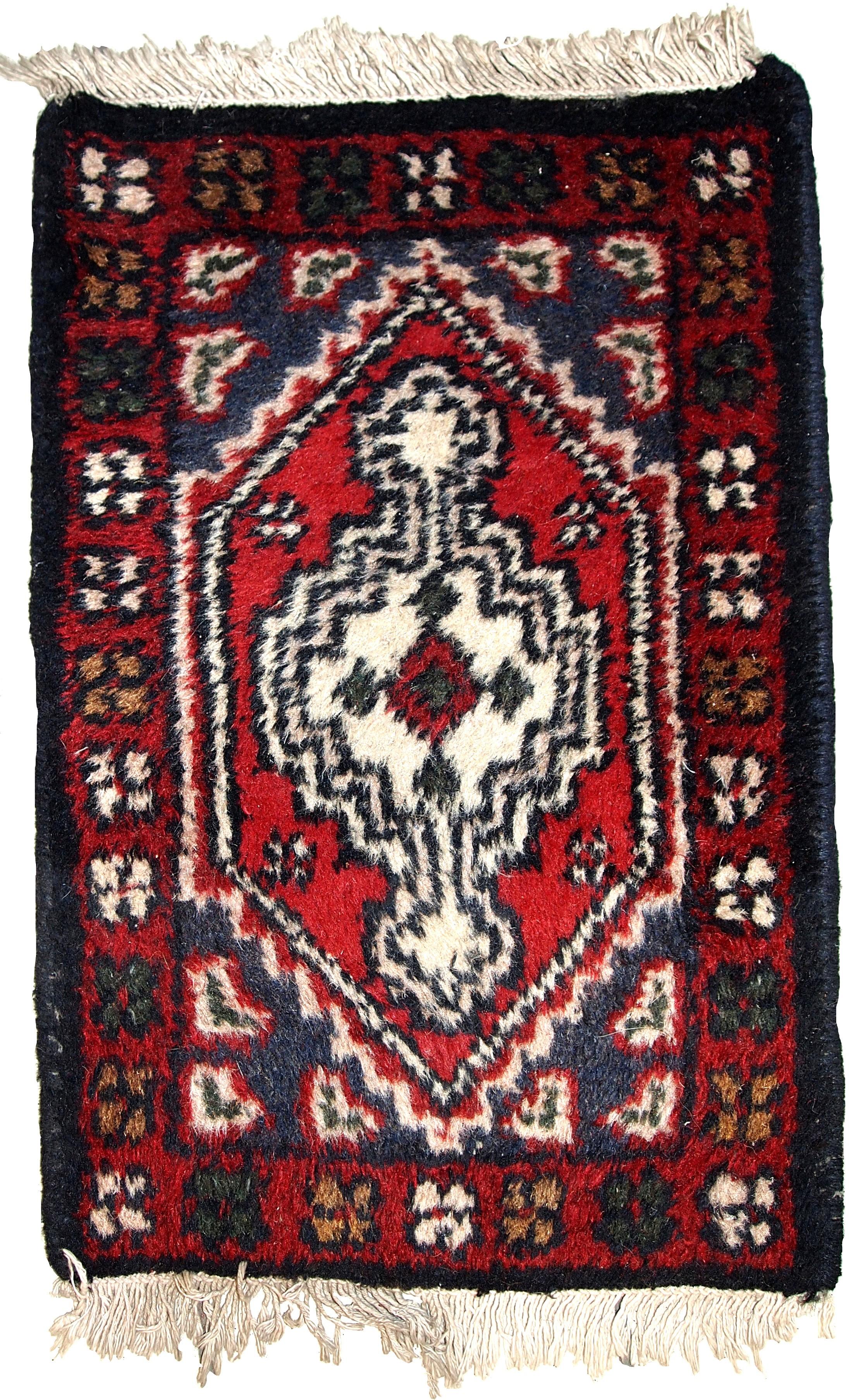 Handmade Vintage Persian Hamadan Rug