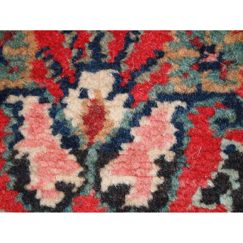 Handmade Vintage Persian Hamadan Runner Rug