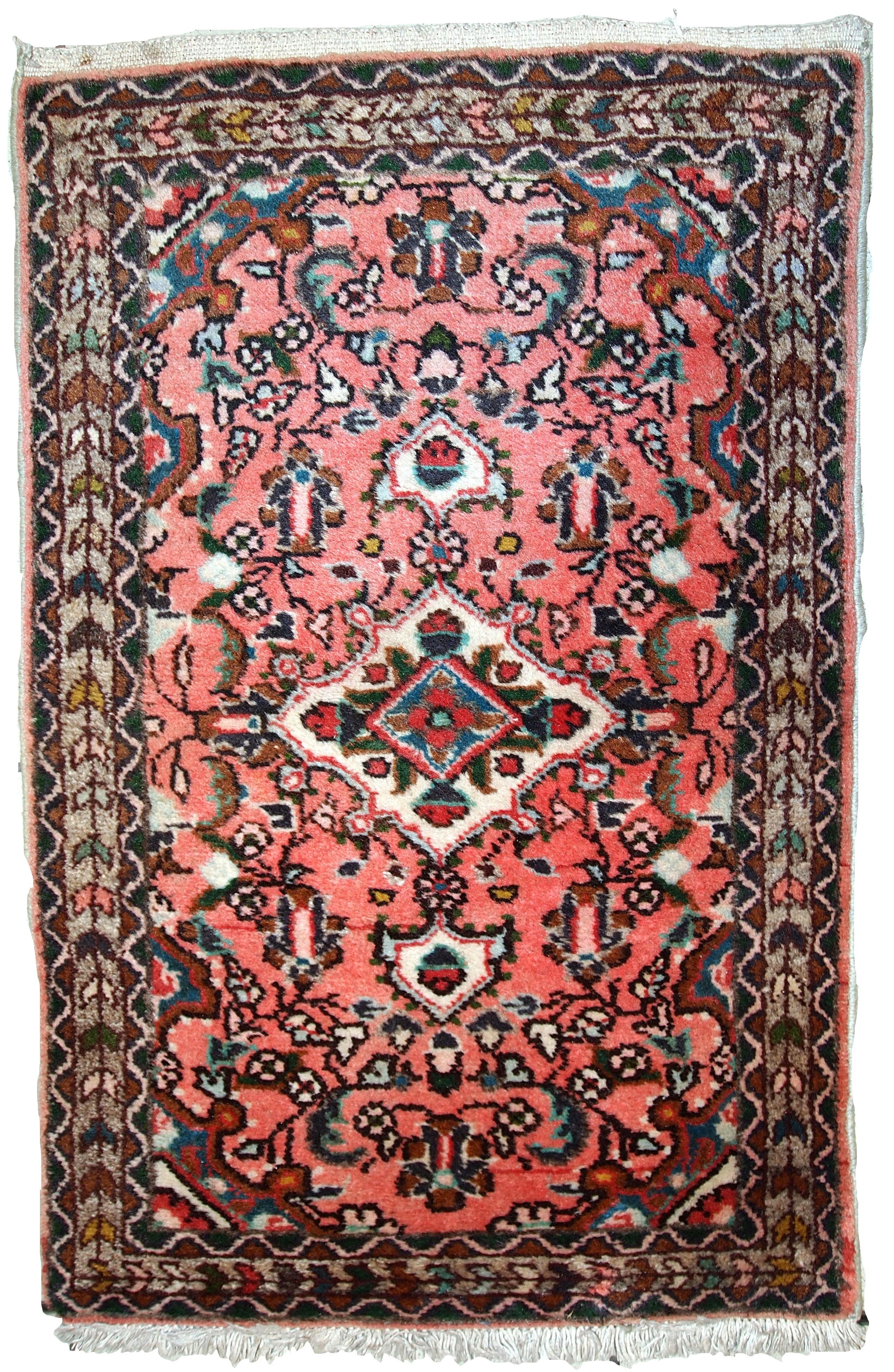 Handmade Vintage Persian Lilihan Rug