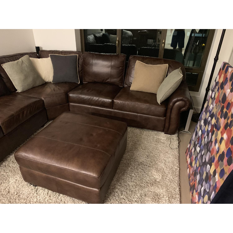 Strange Raymour Flanigan L Shaped Leather Sectional Sofa Aptdeco Cjindustries Chair Design For Home Cjindustriesco