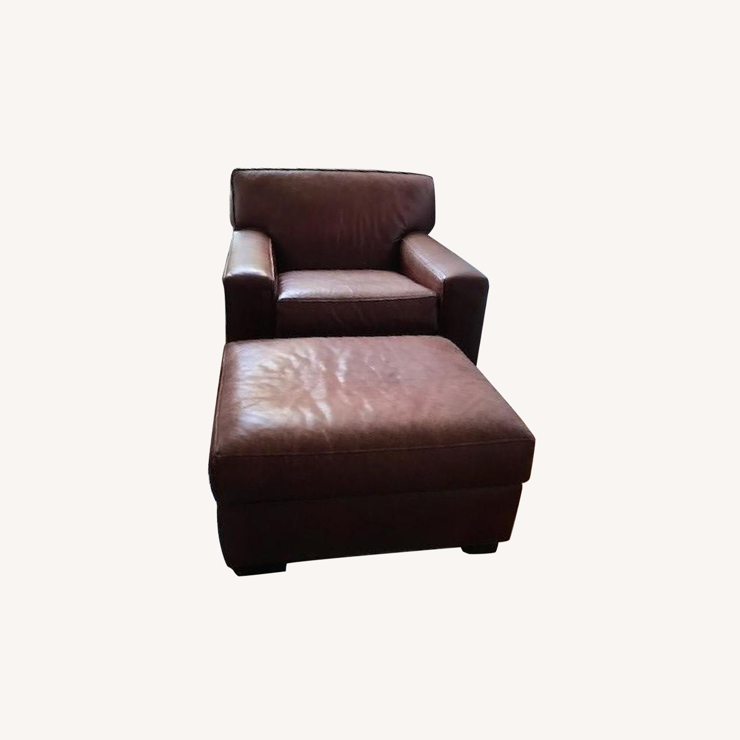 Fine Pottery Barn Leather Chair Ottoman Aptdeco Caraccident5 Cool Chair Designs And Ideas Caraccident5Info