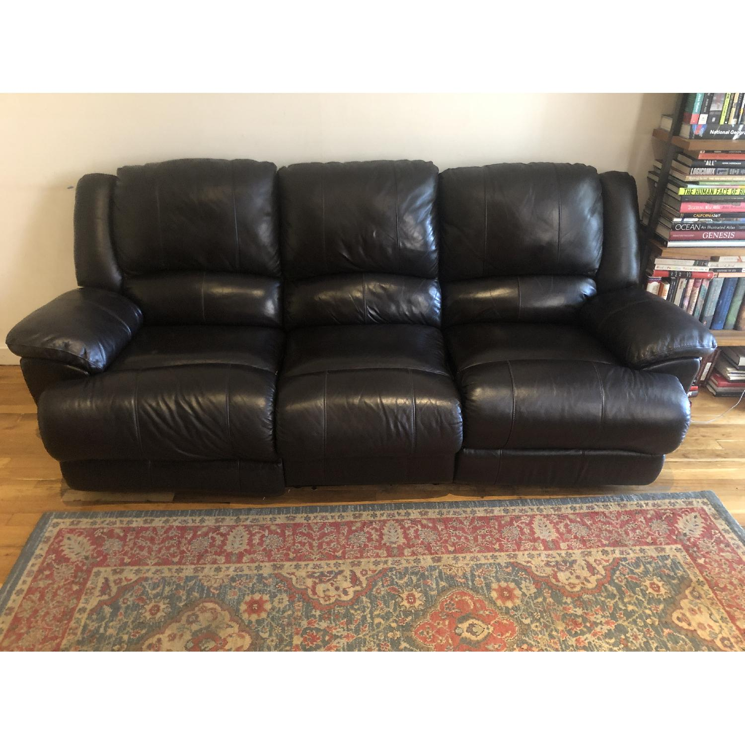 Jennifer Convertibles Reclining Leather 3 Seater Sofa