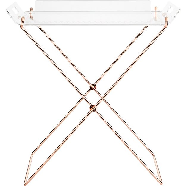 Cb2 Acrylic Tray Table