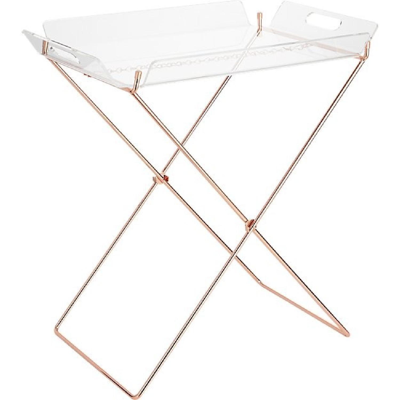 Cb2 Acrylic Tray Table