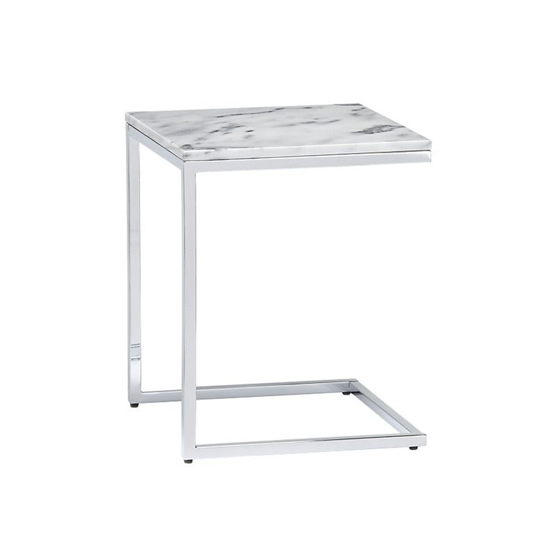 CB2 Smart Marble Side Table