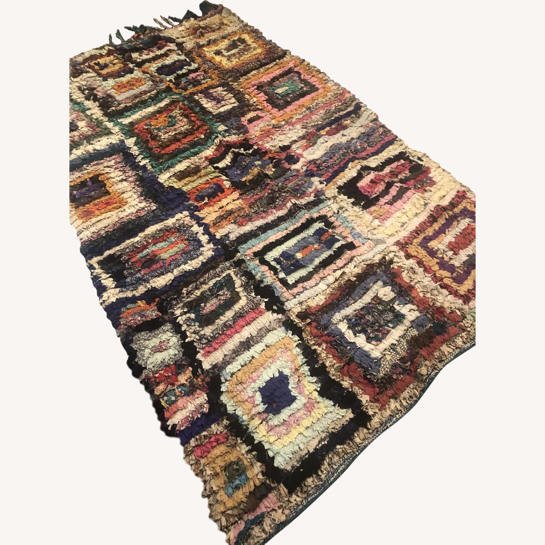 Vintage Moroccan Boucherouite Berber Rug