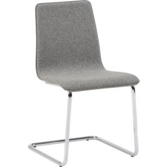CB2 Pony Grey Tweed Chairs