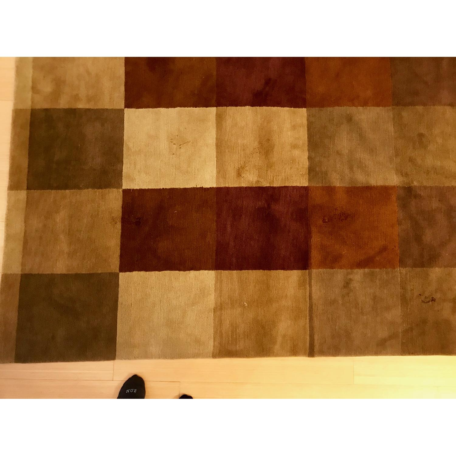 Hand Knotted Tibetan Wool Rug in Neutral Colors - image-2