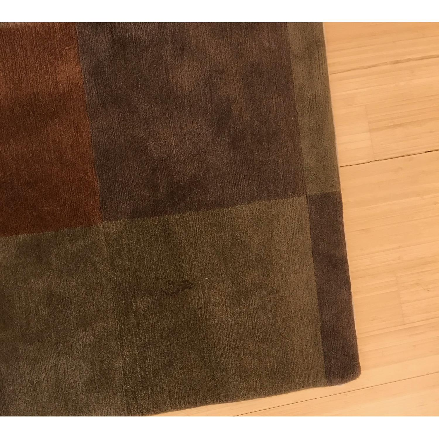 Hand Knotted Tibetan Wool Rug in Neutral Colors - image-3