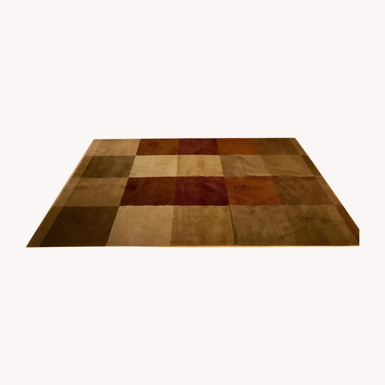 Hand Knotted Tibetan Wool Rug in Neutral Colors - image-0