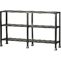 Zipcode Design Glass & Metal Console Table/TV Stand