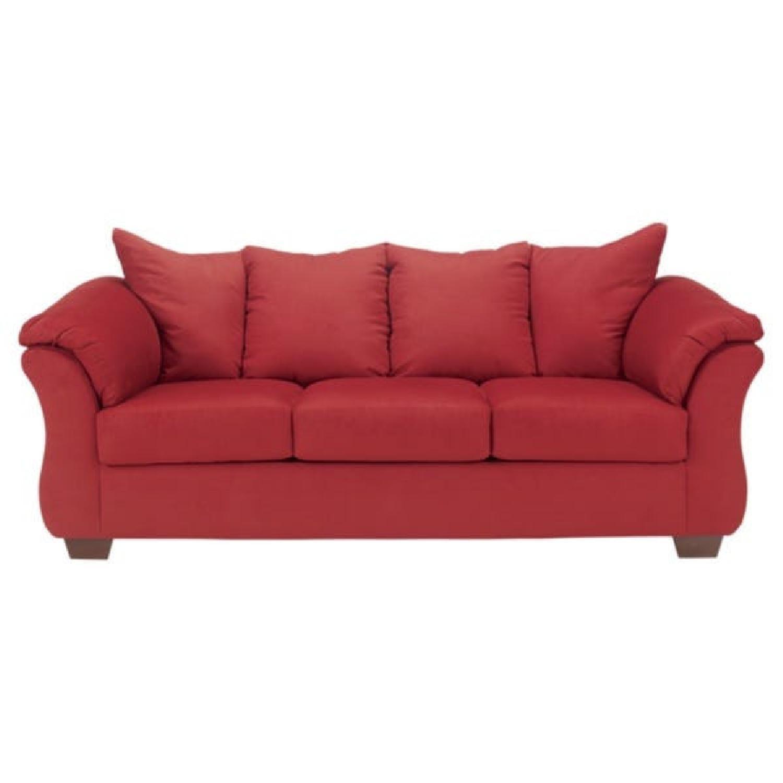 Ashley Red Sofa