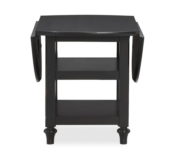 Pottery Barn Shayne Black Drop-Leaf Kitchen Table