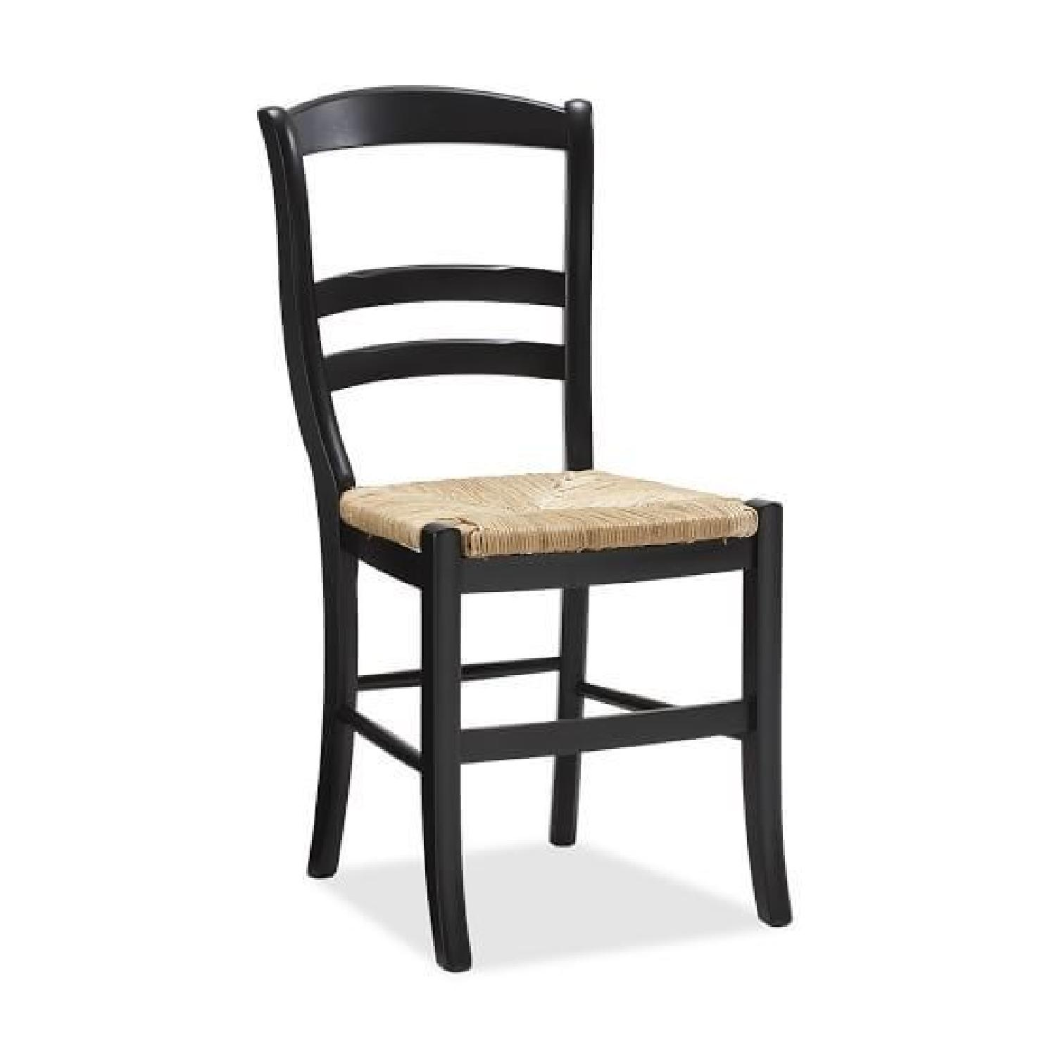 Pottery Barn Isabella Dining Chairs in Black - AptDeco