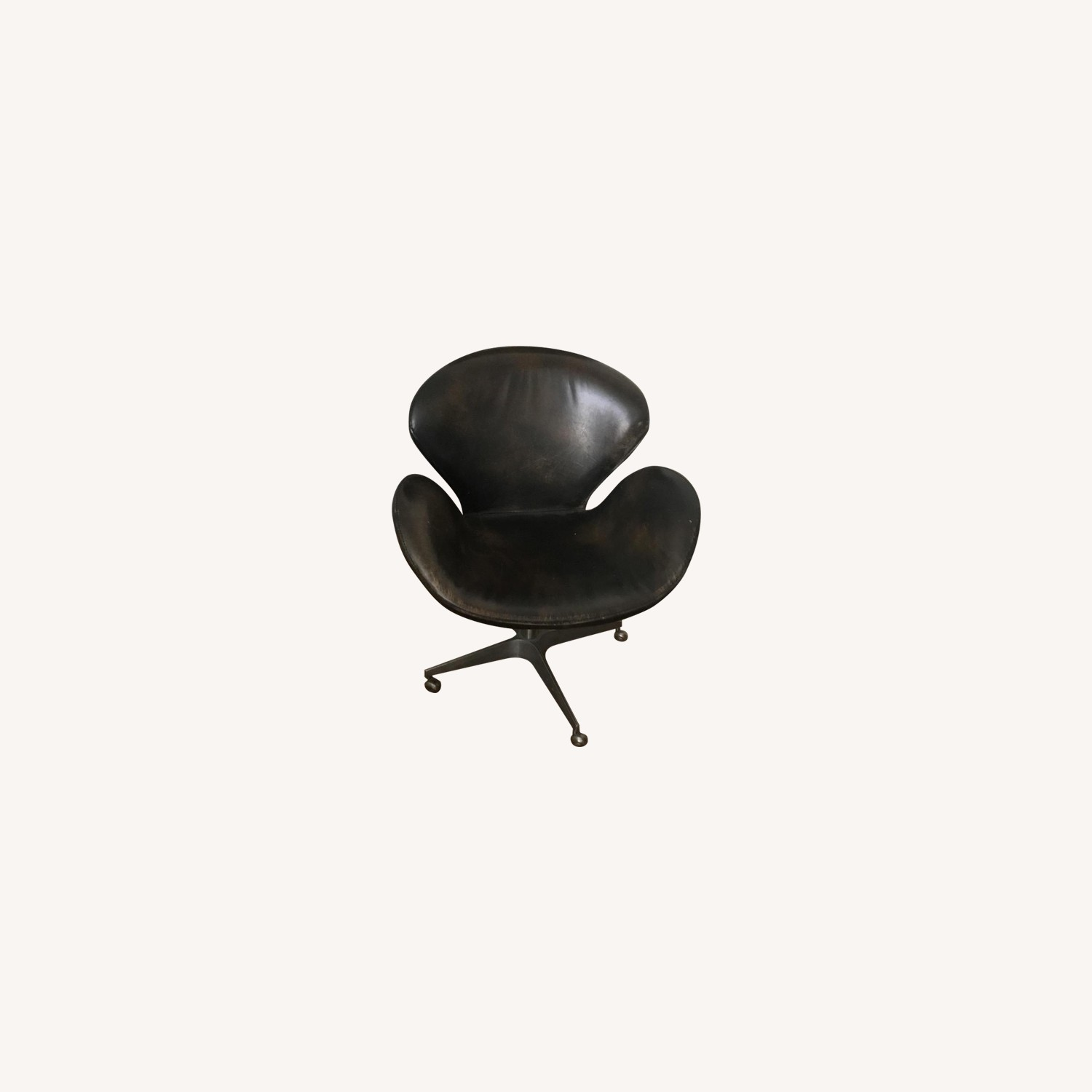 Restoration Hardware Leather Office Chair
