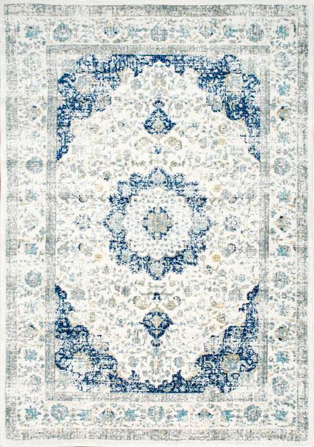 Blue Distressed Persian Bosphorus Rug