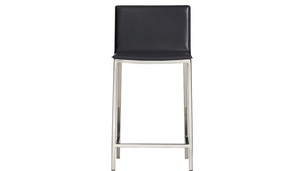 CB2 Phoenix Carbon Grey Bar Stools